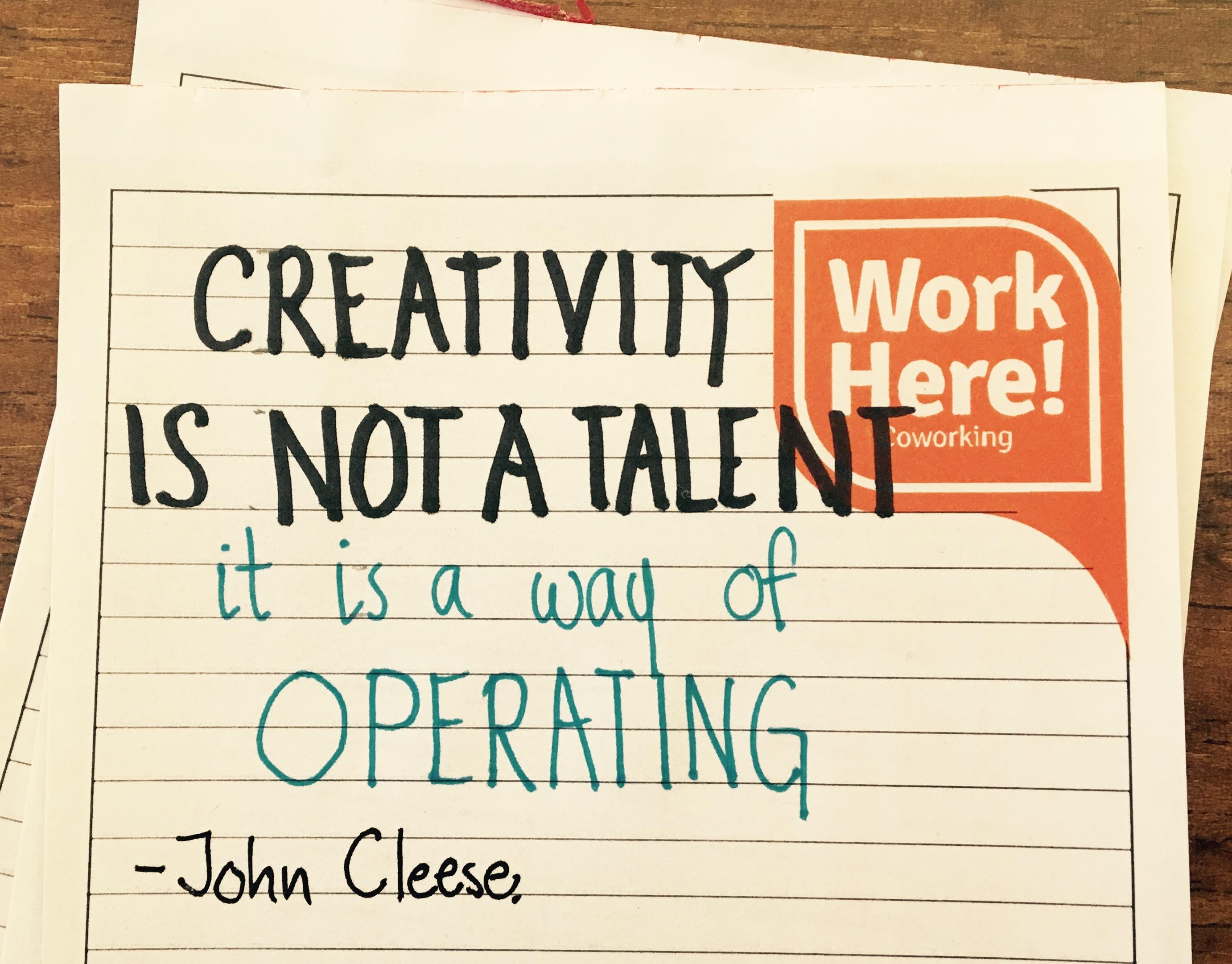 Mantenerse creativo.